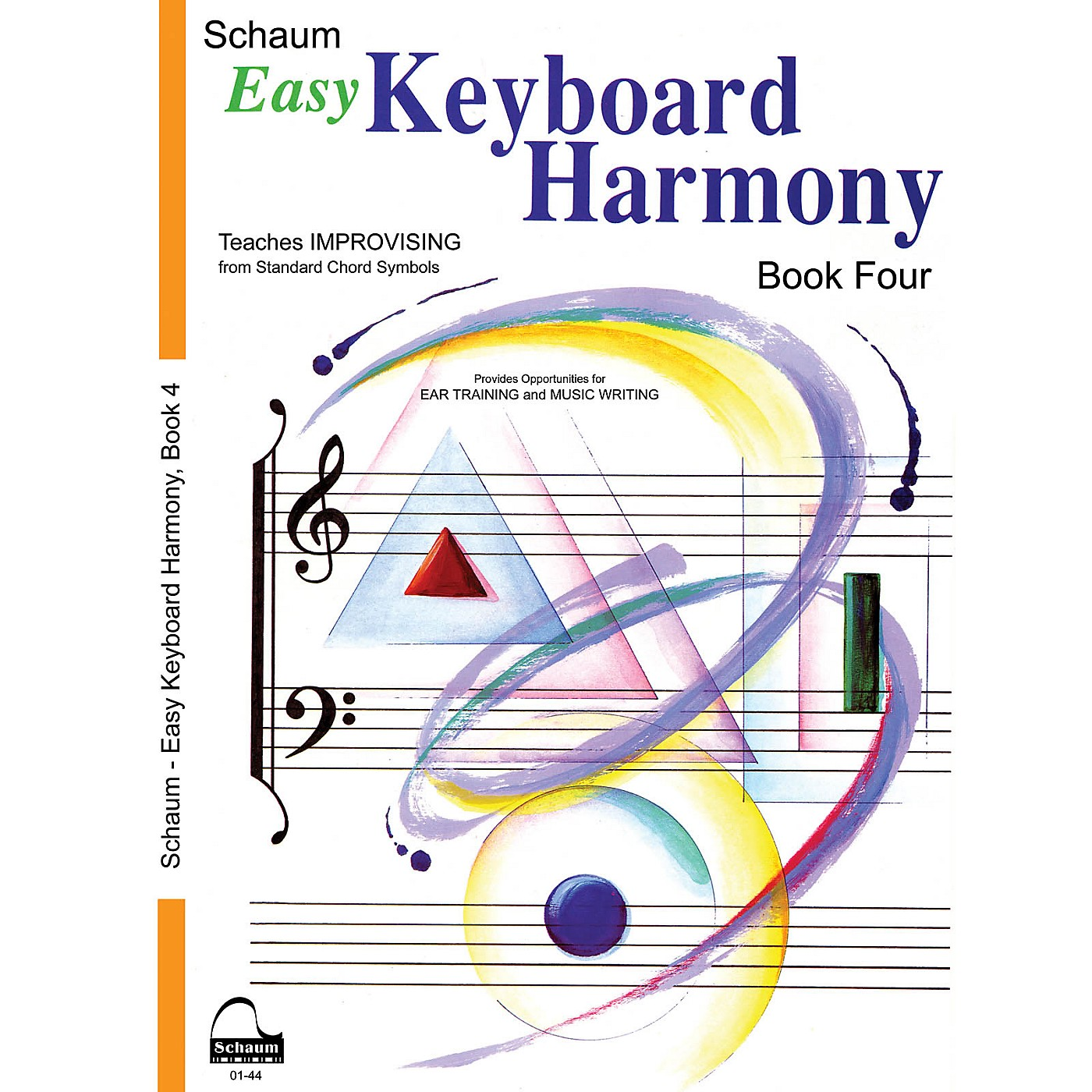 SCHAUM Easy Keyboard Harmony (Book 4 Inter Level) Educational Piano Book by Wesley Schaum thumbnail