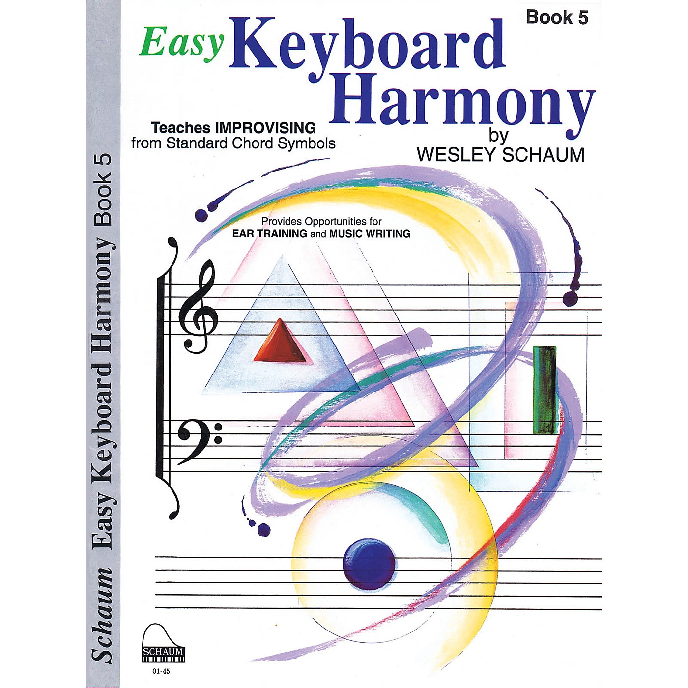SCHAUM Easy Keyboard Harmony (Book 5 Early Advanced Level) Educational Piano Book by Wesley Schaum thumbnail
