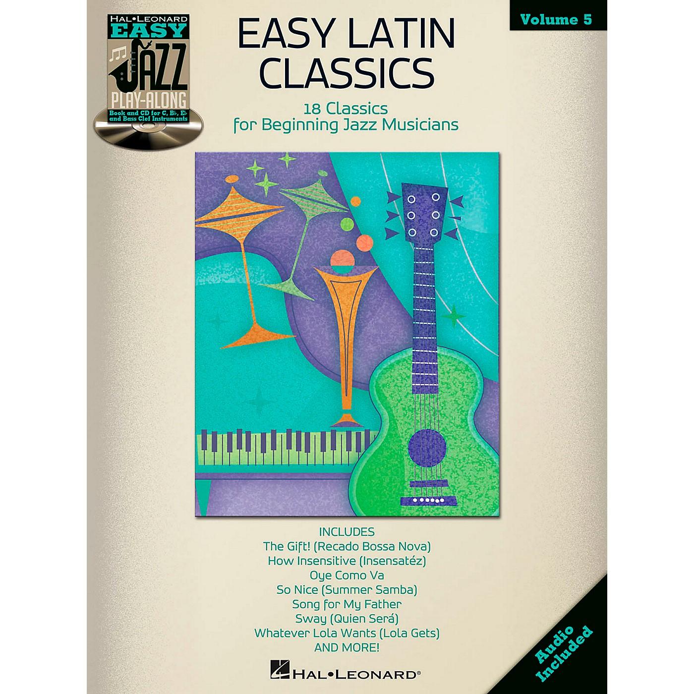 Hal Leonard Easy Latin Classics - Easy Jazz Play-Along Volume 5 Book/CD thumbnail