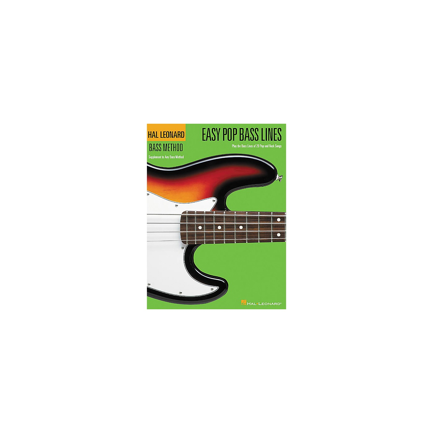 Hal Leonard Easy Pop Bass Lines Bass Method Book thumbnail
