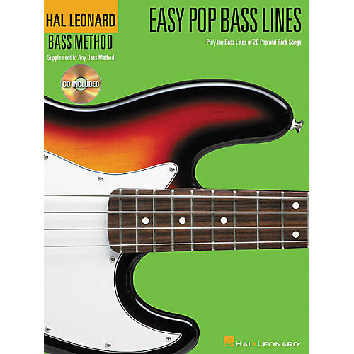 Hal Leonard Easy Pop Bass Lines Tab Book with CD thumbnail