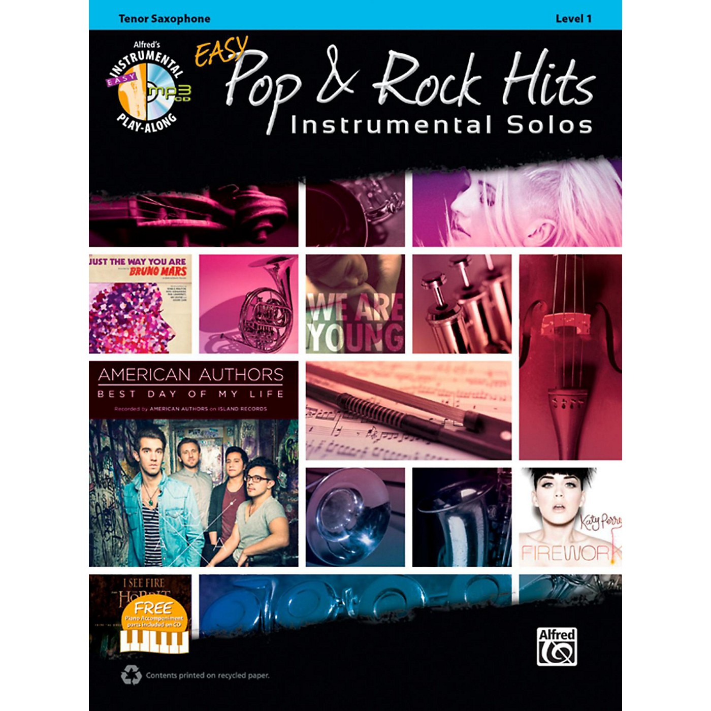 Alfred Easy Pop & Rock Instrumental Solos Tenor Sax Book & CD thumbnail
