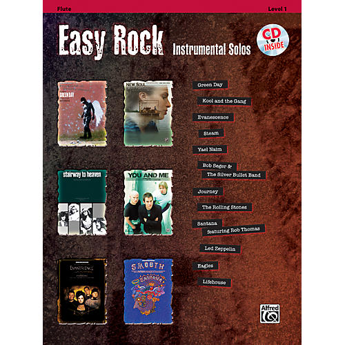 Alfred Easy Rock Instrumental Solos Level 1 Flute Book & CD thumbnail