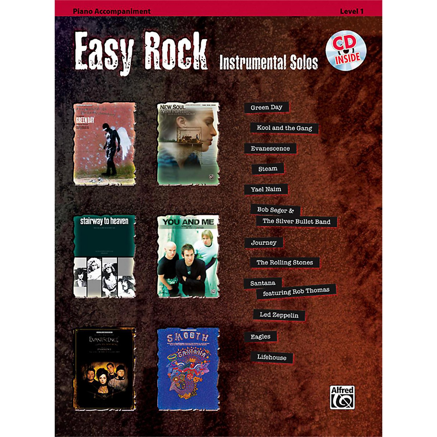 Alfred Easy Rock Instrumental Solos Level 1 Piano Acc. Book & CD thumbnail
