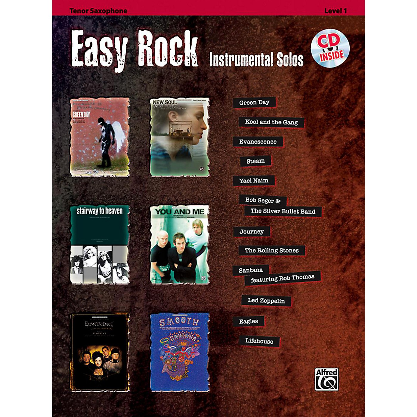 Alfred Easy Rock Instrumental Solos Level 1 Tenor Sax Book & CD thumbnail