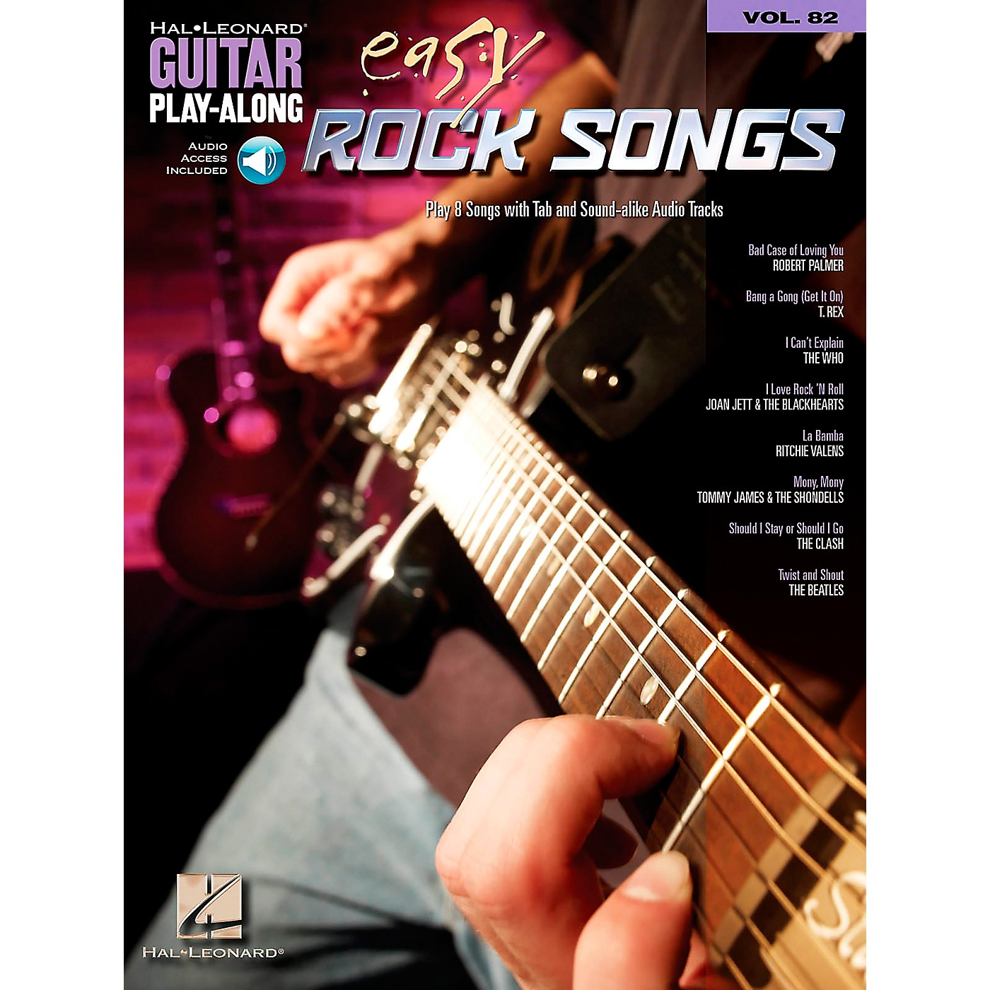 Hal Leonard Easy Rock Songs - Guitar Play-Along, Volume 82 (CD/Booklet) thumbnail