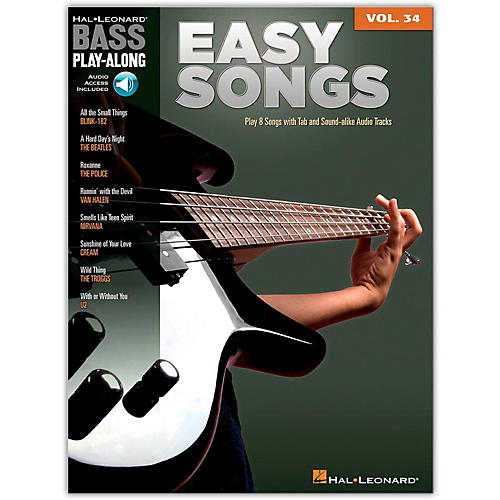 Hal Leonard Easy Songs - Bass Play-Along, Volume 34 (Book/online Audio) thumbnail