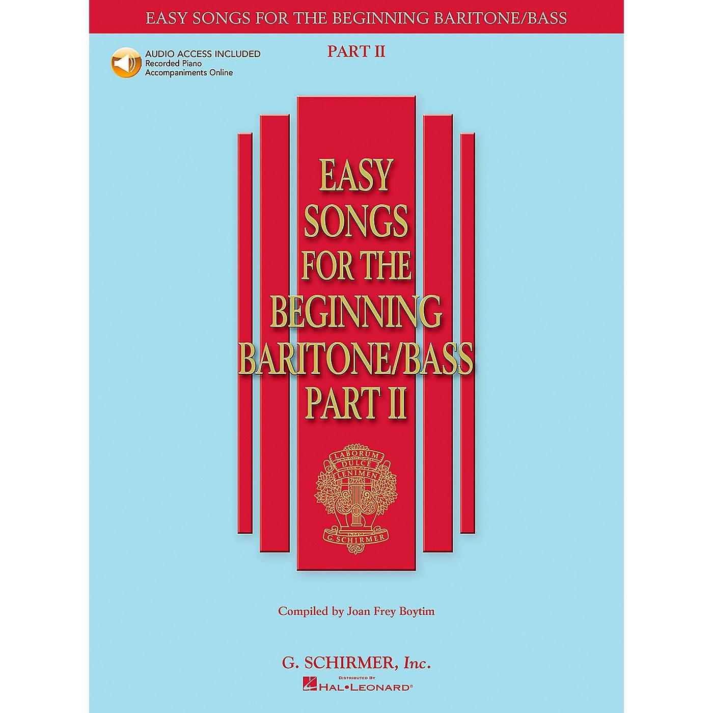 G. Schirmer Easy Songs for The Beginning Baritone / Bass Part II Book/CD thumbnail