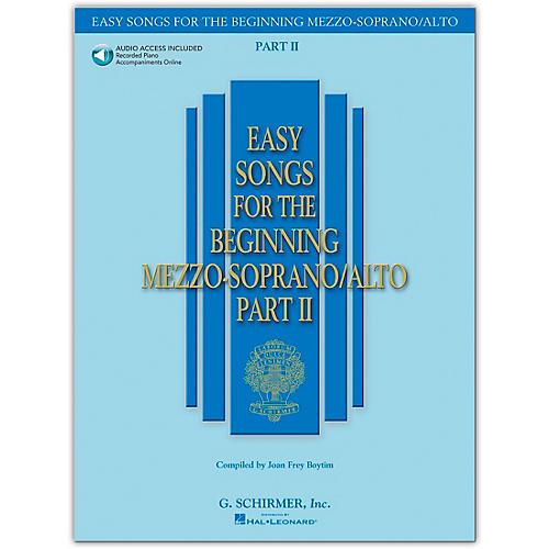 G. Schirmer Easy Songs for The Beginning Mezzo-Soprano / Alto Part II Book/Online Audio thumbnail