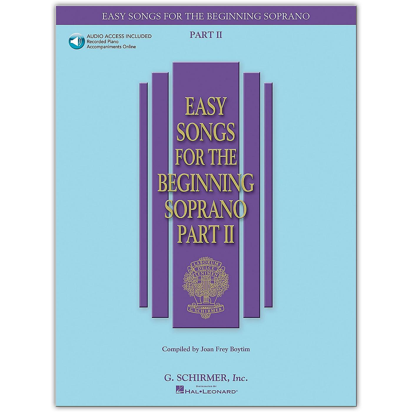 G. Schirmer Easy Songs for The Beginning Soprano Part II Book/Online Audio thumbnail