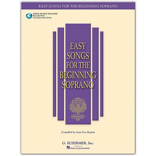 G. Schirmer Easy Songs for The Beginning for Soprano Book/Online Audio thumbnail