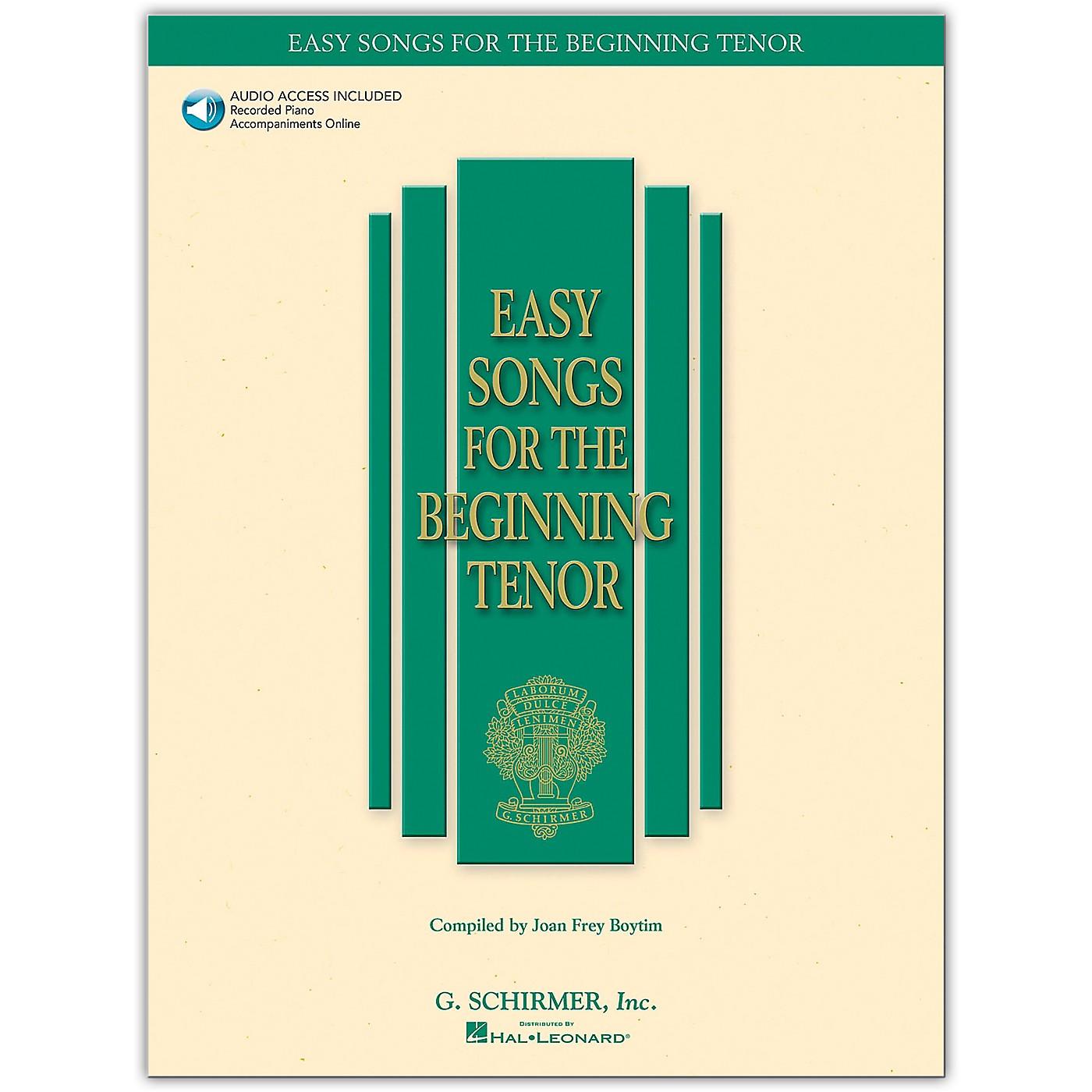 G. Schirmer Easy Songs for The Beginning for Tenor Voice Book/Online Audio thumbnail