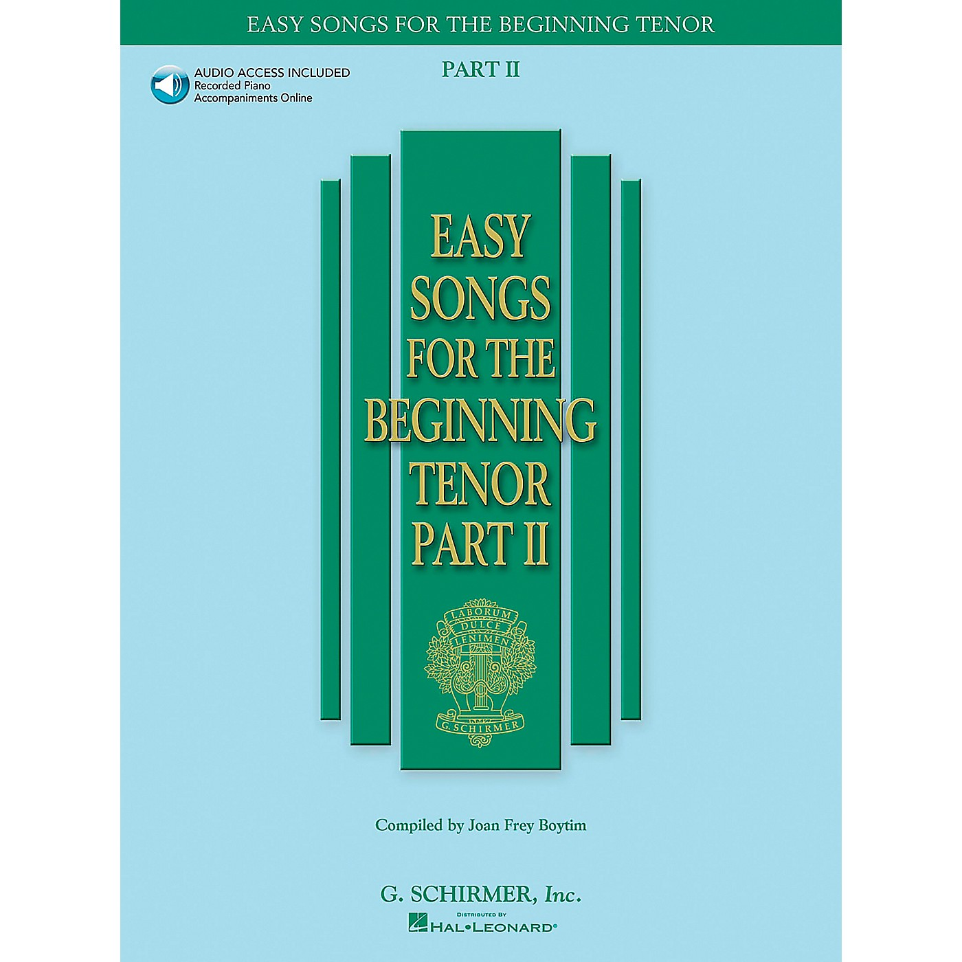 G. Schirmer Easy Songs for The Beginning for Tenor Voice Part II Book/CD thumbnail