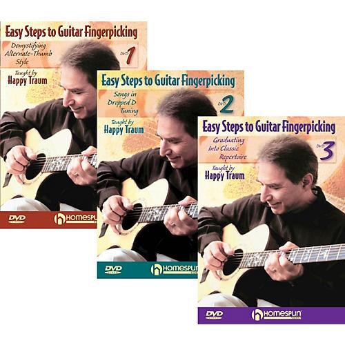 Homespun Easy Steps To Guitar Fingerpicking 1,2&3 (DVD) thumbnail