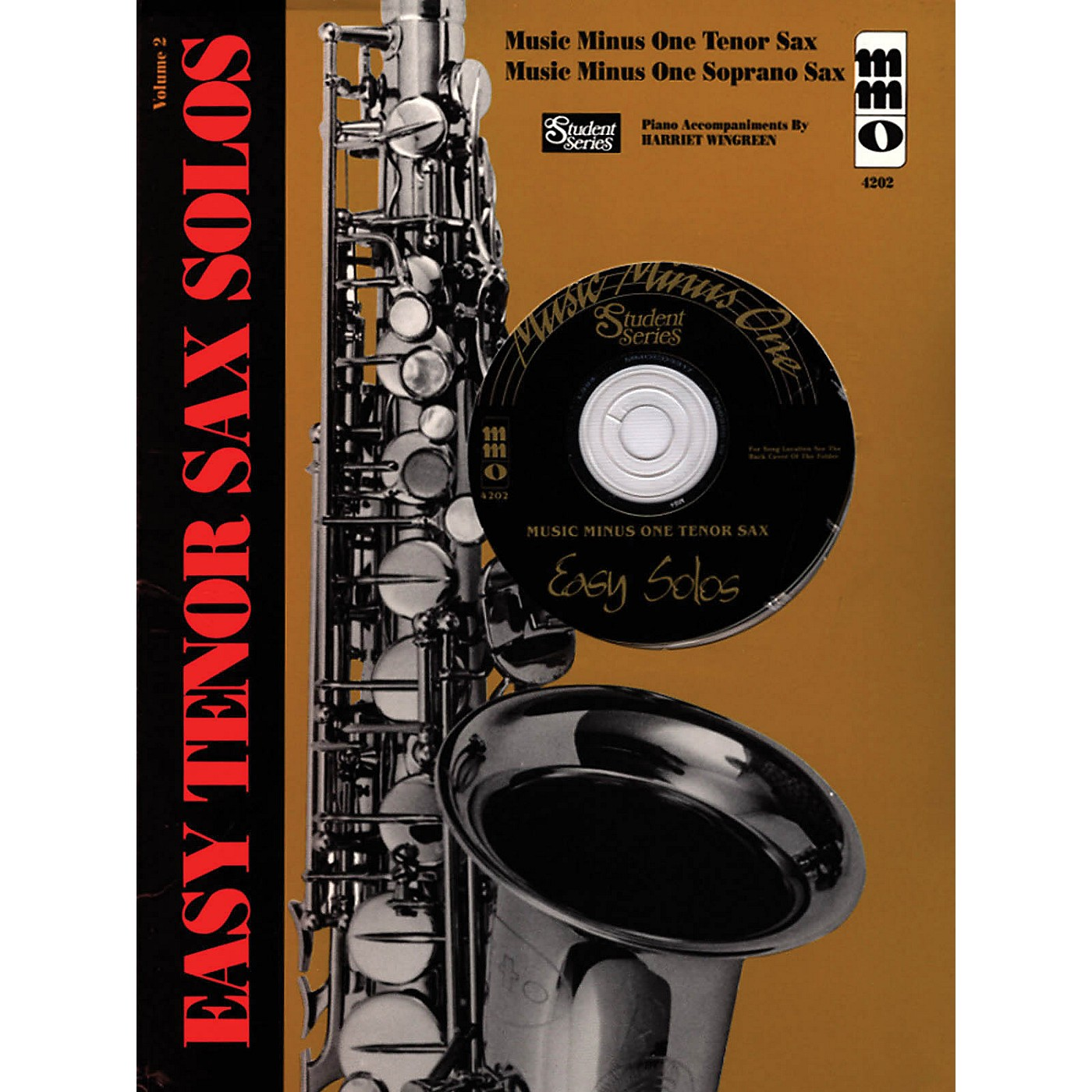 Music Minus One Easy Tenor Sax Solos - Volume 2 Music Minus One Series Book with CD thumbnail