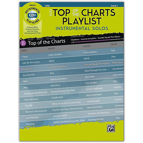 Alfred Easy Top of the Charts Playlist Instrumental Solos for Strings Cello Book & CD Level 1 thumbnail
