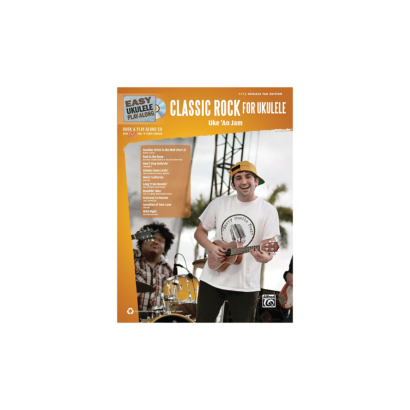 Alfred Easy Ukulele Play-Along Classic Rock Book & CD thumbnail