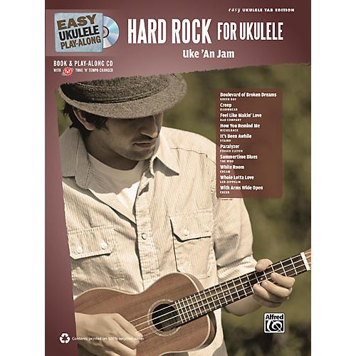 Alfred Easy Ukulele Play-Along Hard Rock for Ukulele Book & CD thumbnail