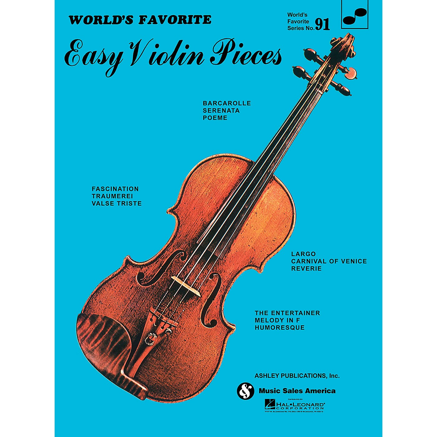 Ashley Publications Inc. Easy Violin Pieces (World's Favorite Series #91) World's Favorite (Ashley) Series Softcover thumbnail