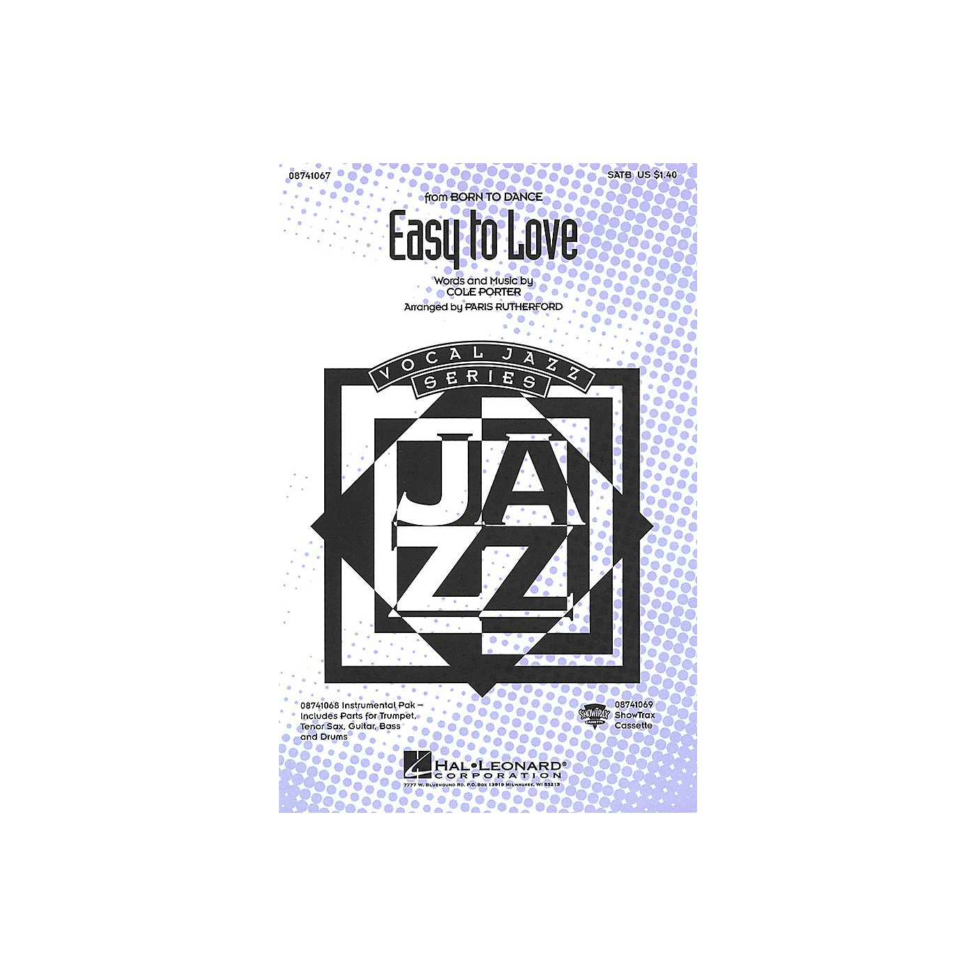 Hal Leonard Easy to Love Combo Parts Arranged by Paris Rutherford thumbnail