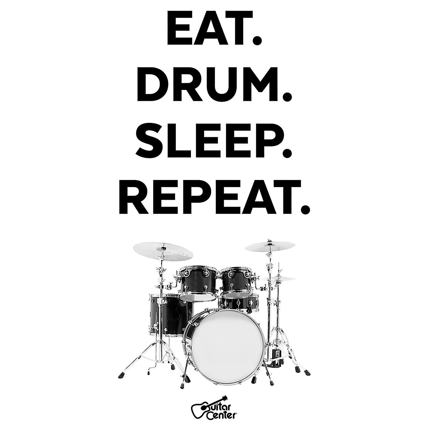 Guitar Center Eat, Drum, Sleep, Repeat - Black/White Sticker thumbnail