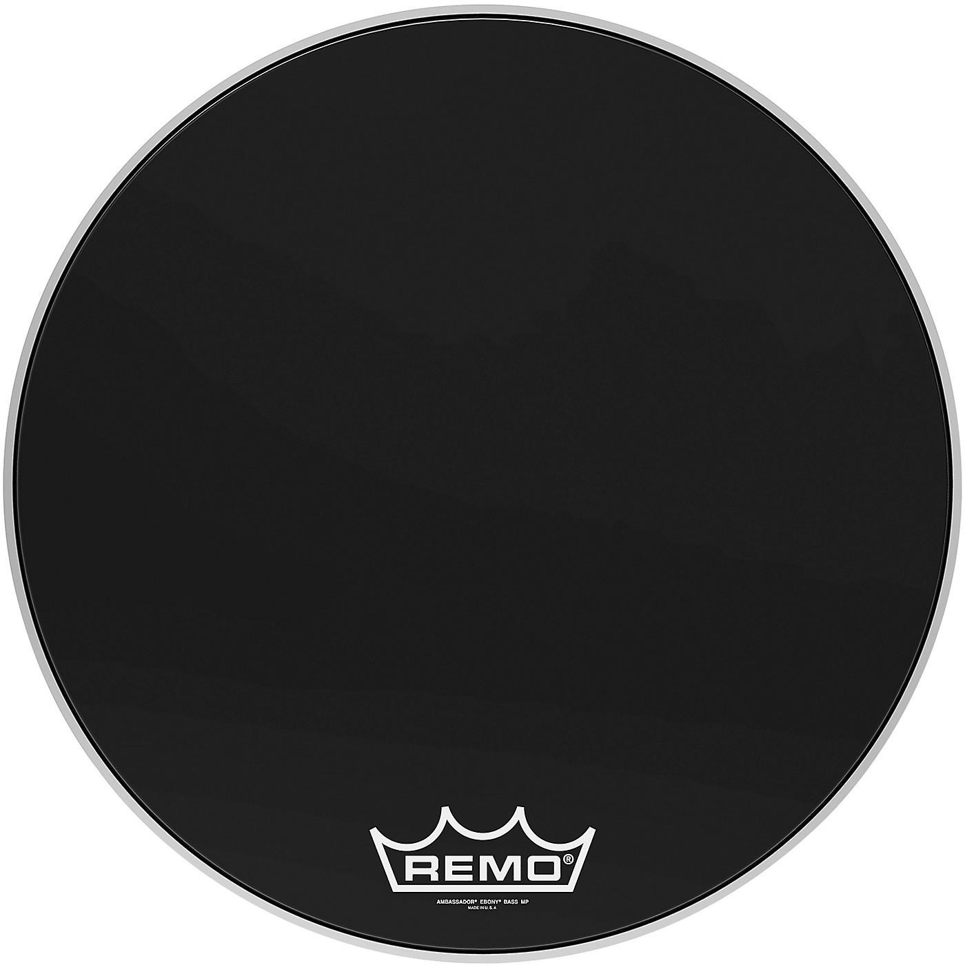 Remo Ebony Ambassador Crimplock Bass Drum Head thumbnail