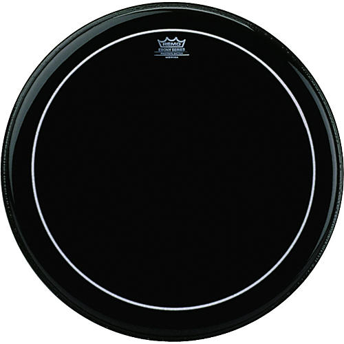 Remo Ebony Series Pinstripe Bass Drumhead thumbnail