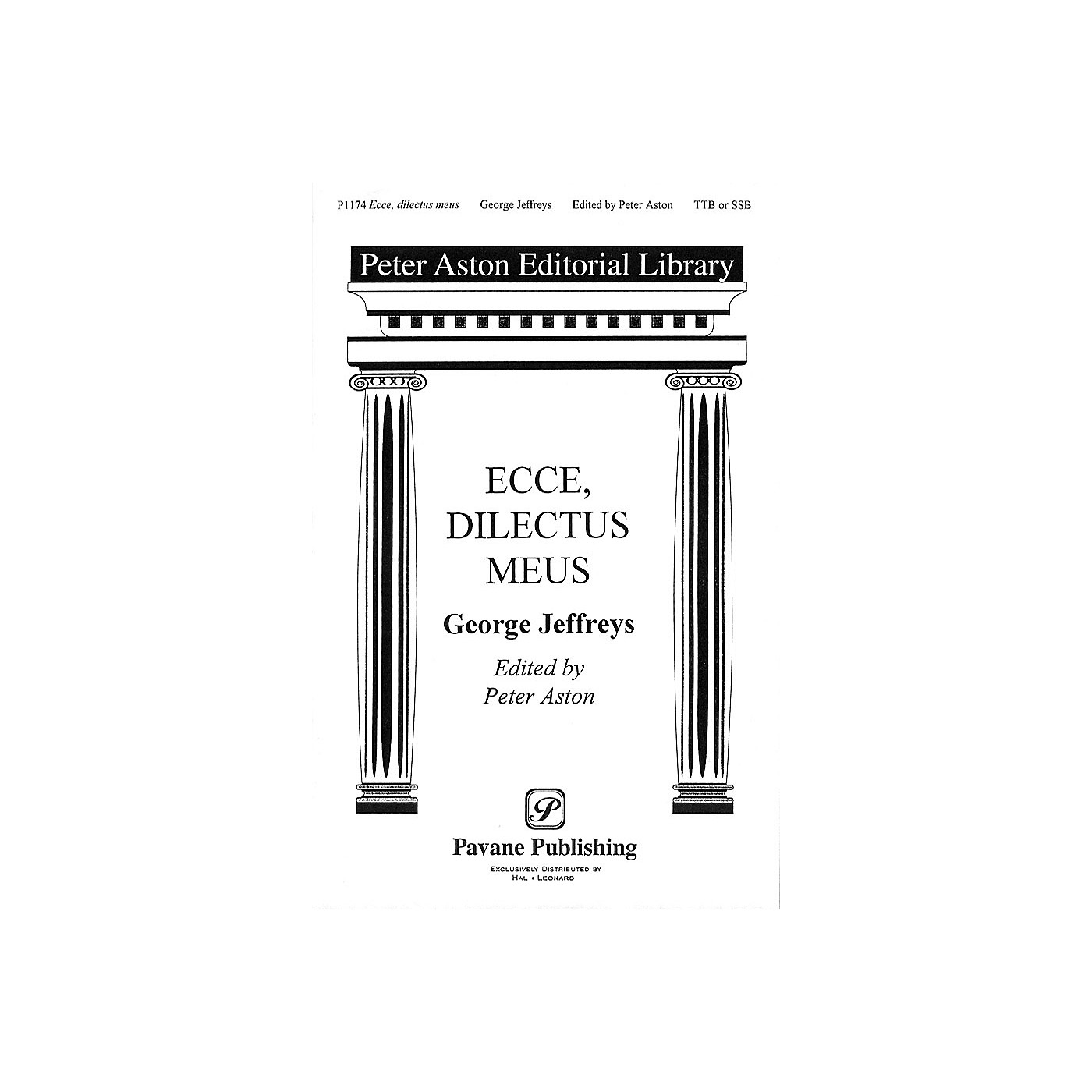 Banks Music Publications Ecce, Dilectus Meus TTB/SSA arranged by Peter Aston thumbnail