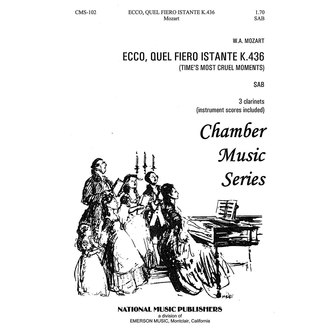 Hal Leonard Ecco Quel Fiero Instante SAB composed by Robert Carl thumbnail