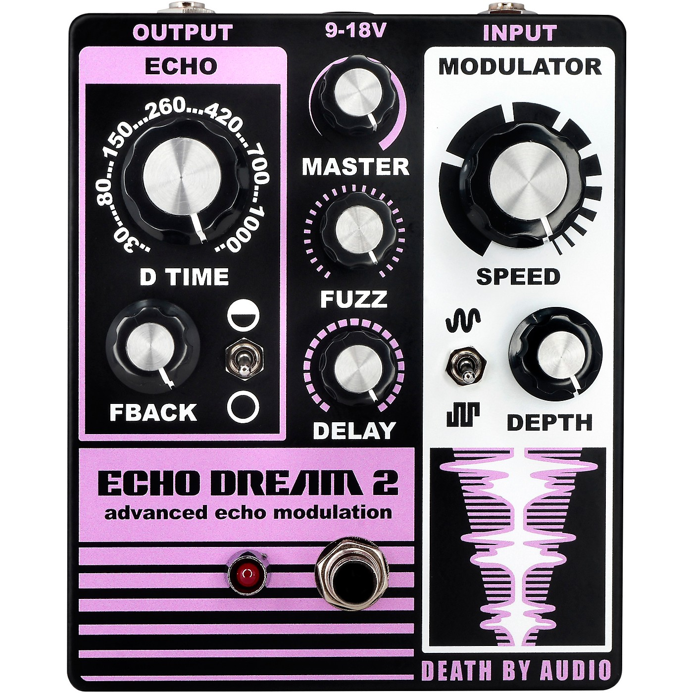 DEATH BY AUDIO Echo Dream 2 Delay Effects Pedal thumbnail