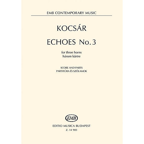 Hal Leonard Echoes No. 3 For Three Horns Score And Parts EMB Series Book thumbnail