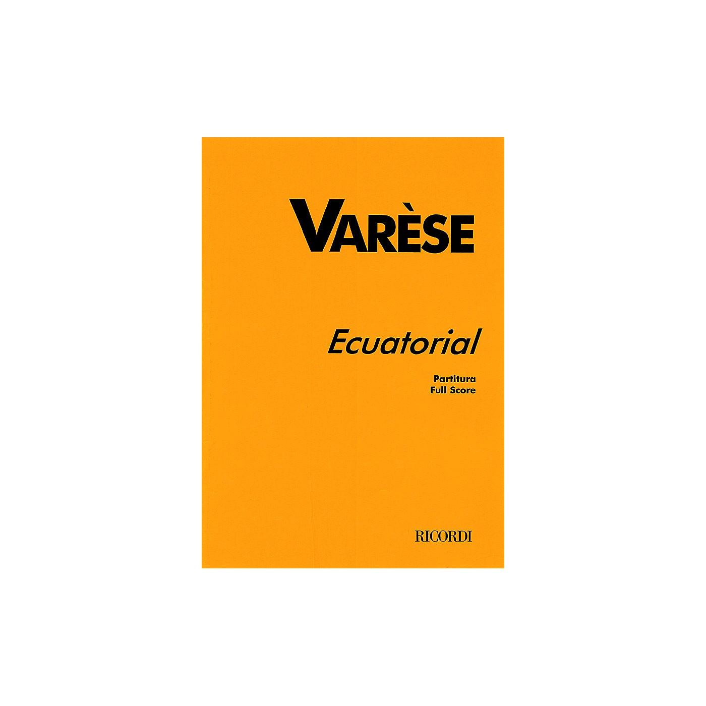 Ricordi Ecuatorial (Full Score) Study Score Series Composed by Edgard Varèse thumbnail