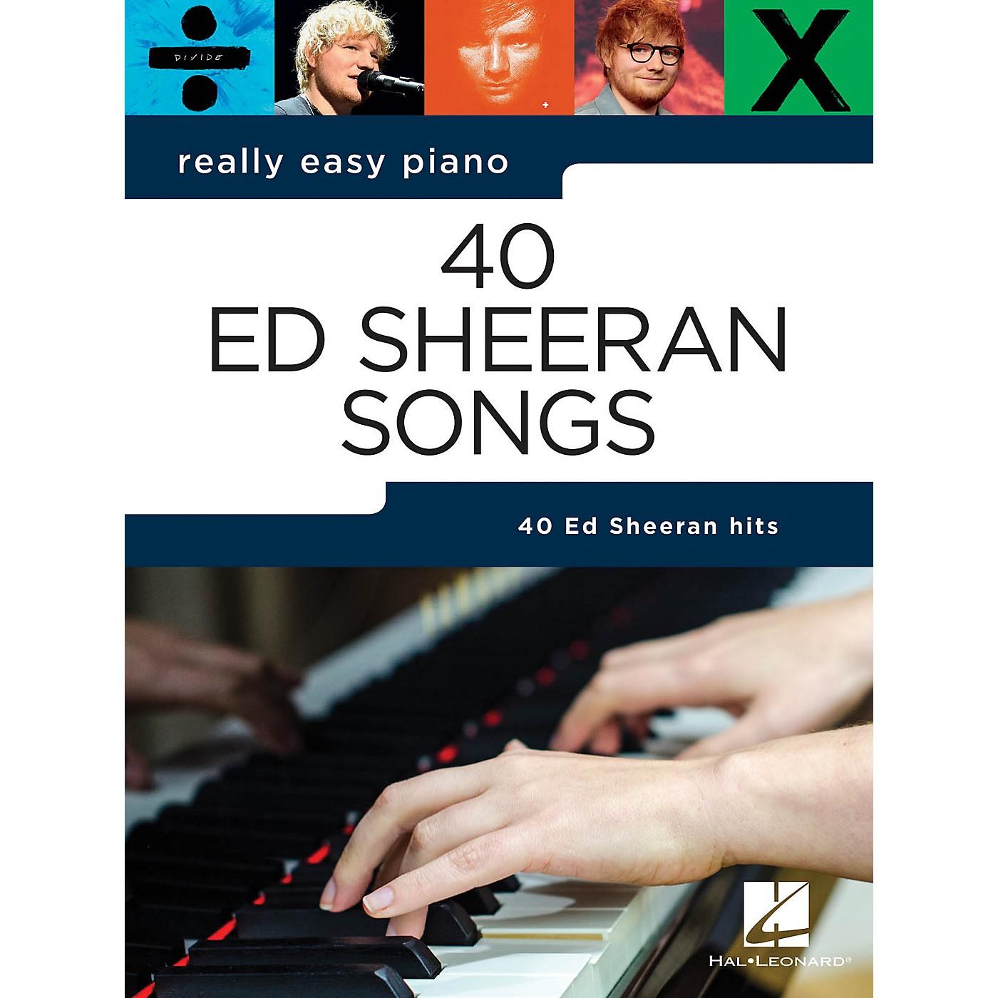 Hal Leonard Ed Sheeran - Really Easy Piano Songbook thumbnail