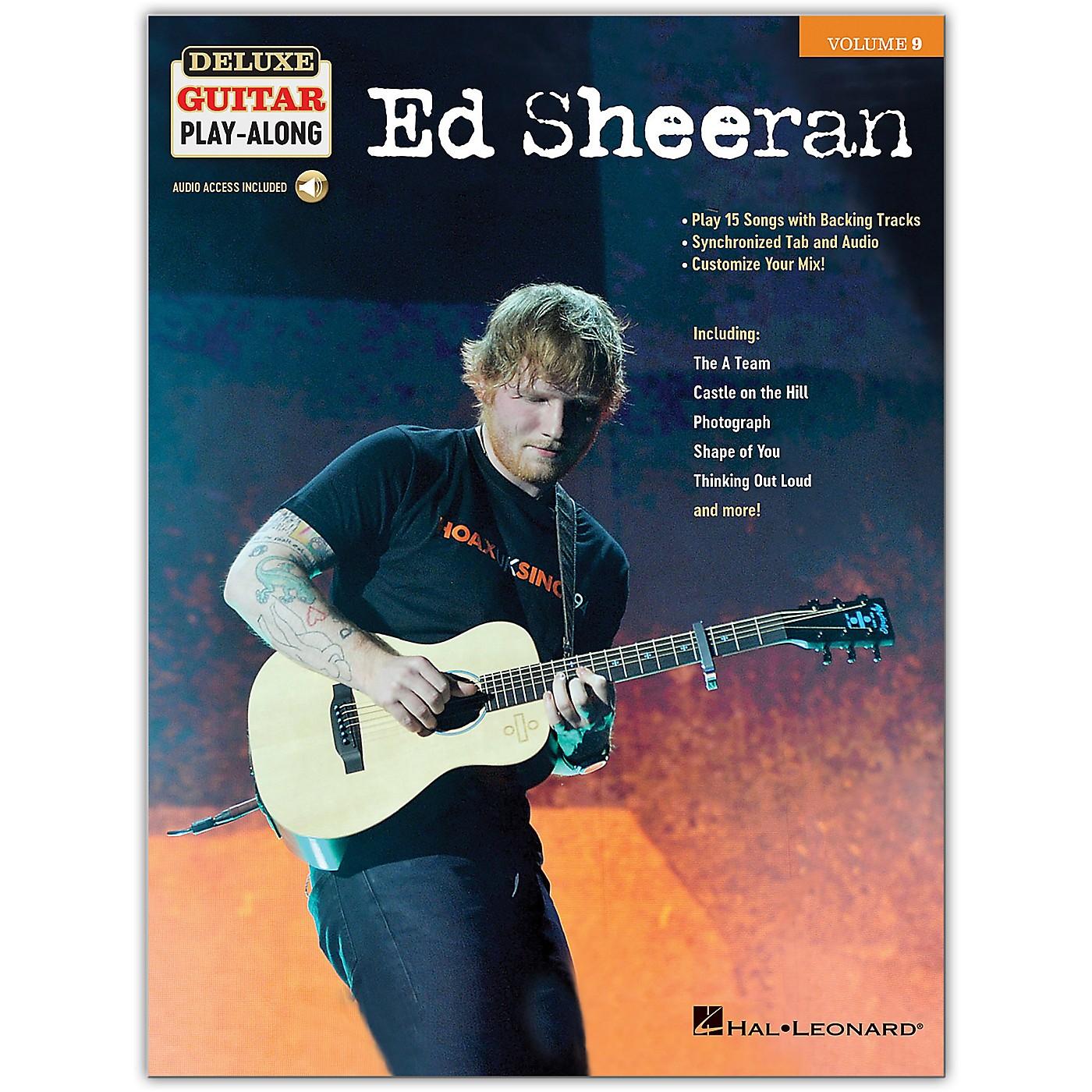 Hal Leonard Ed Sheeran Deluxe Guitar Play-Along Volume 9 Book/Audio Online thumbnail