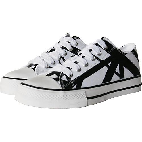 EVH Eddie Van Halen Low Top Sneakers - White with Black Stripes thumbnail
