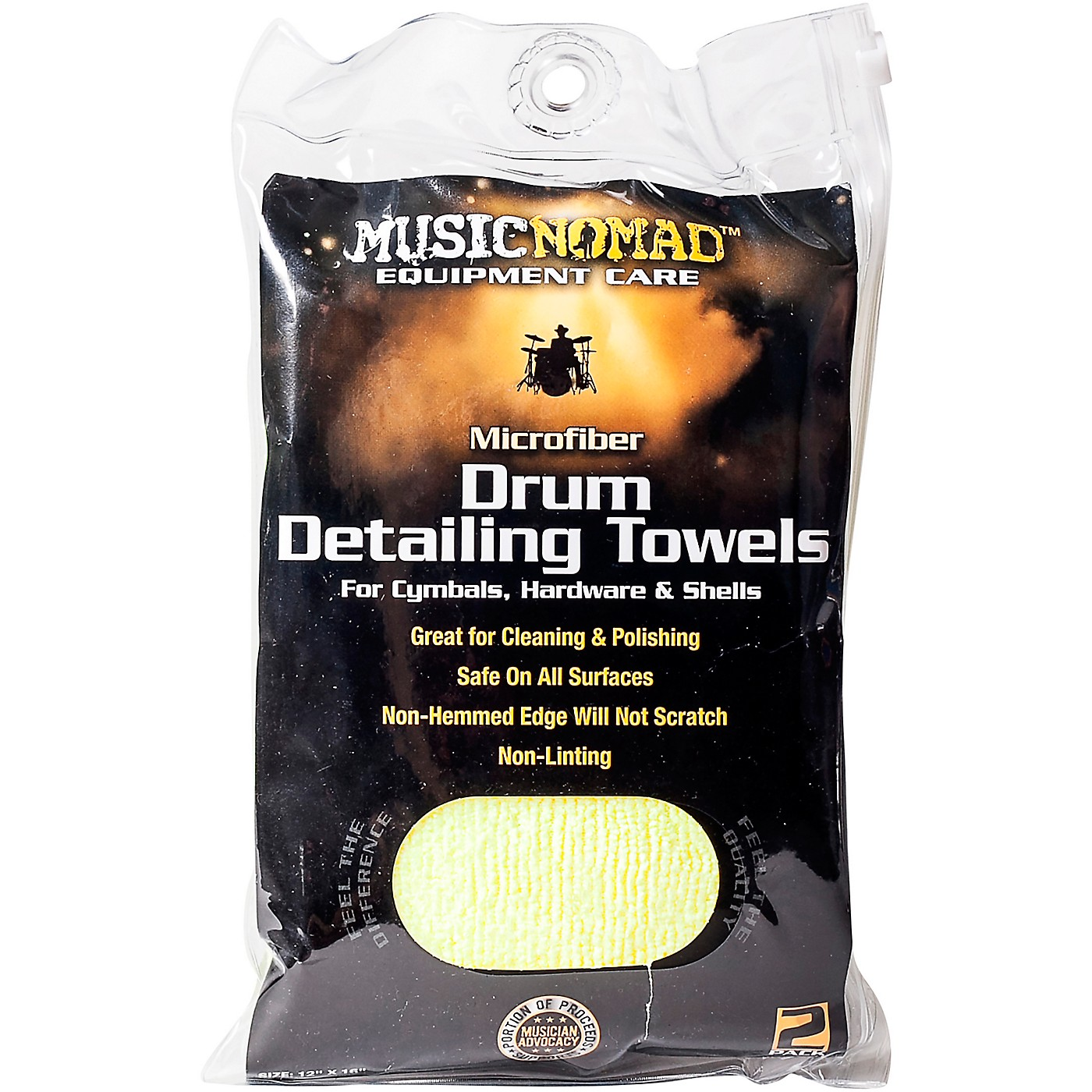 Music Nomad Edgeless Microfiber Drum Detailing Towels - 2 pack thumbnail