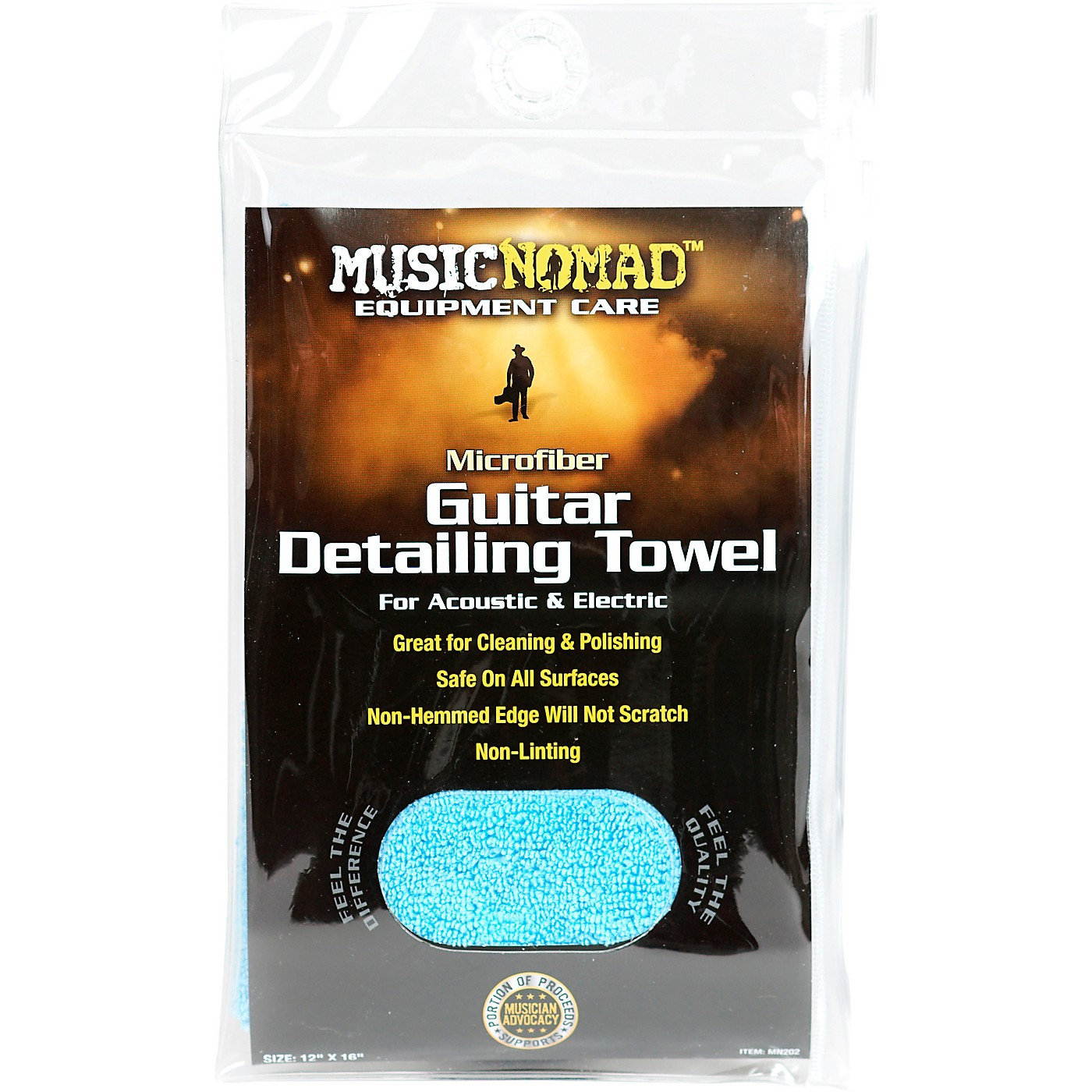 MusicNomad Edgeless Microfiber Guitar Detailing Towel thumbnail