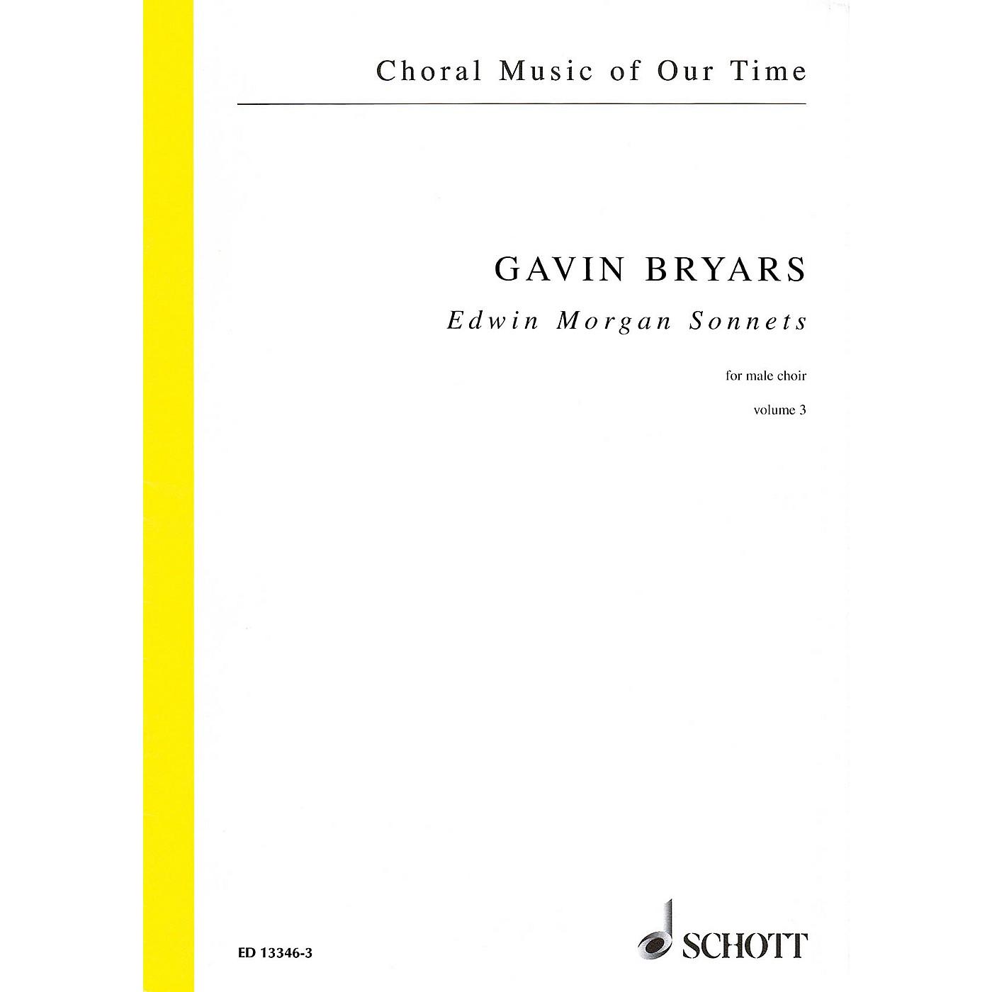 Schott Edwin Morgan Sonnets (Male Choir Volume 3, Choral Score) Composed by Gavin Bryars thumbnail