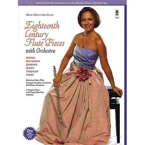 Music Minus One Eighteenth Century Flute Pieces with Orchestra Music Minus One Series Softcover with CD thumbnail