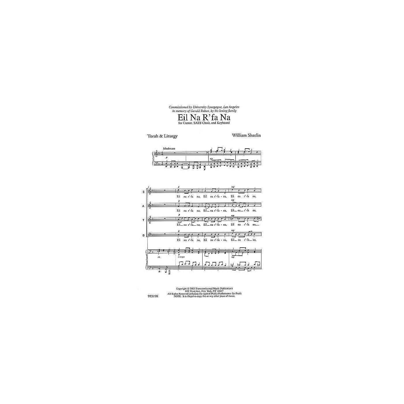 Transcontinental Music Eil Na R'fa Na (Prayer for Healing) SATB composed by William Sharlin thumbnail