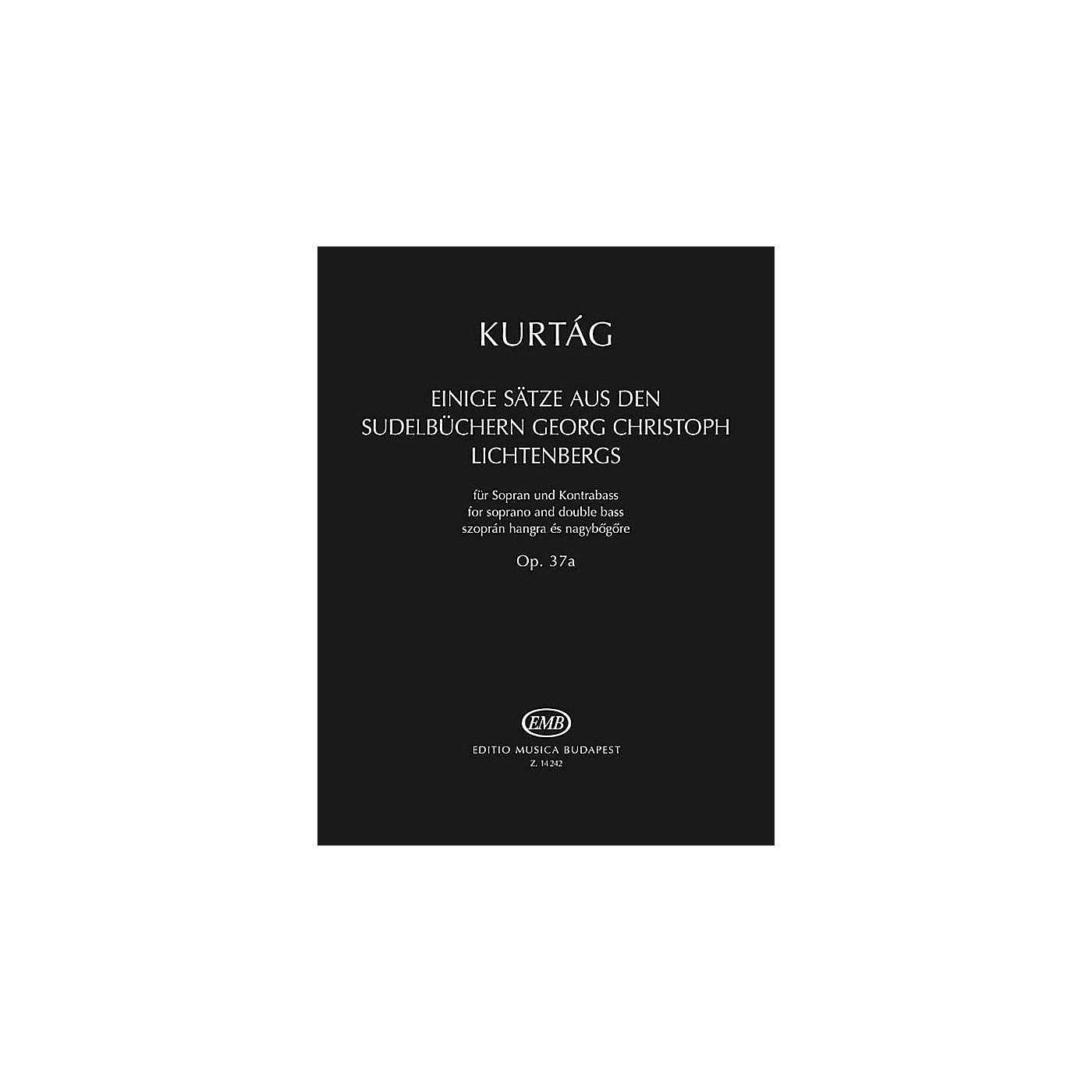 Editio Musica Budapest Einige Sätze aus der Sudelbüchern G. Chr. Lichtenbergs, Op. 37a EMB Series Softcover by György Kurtág thumbnail