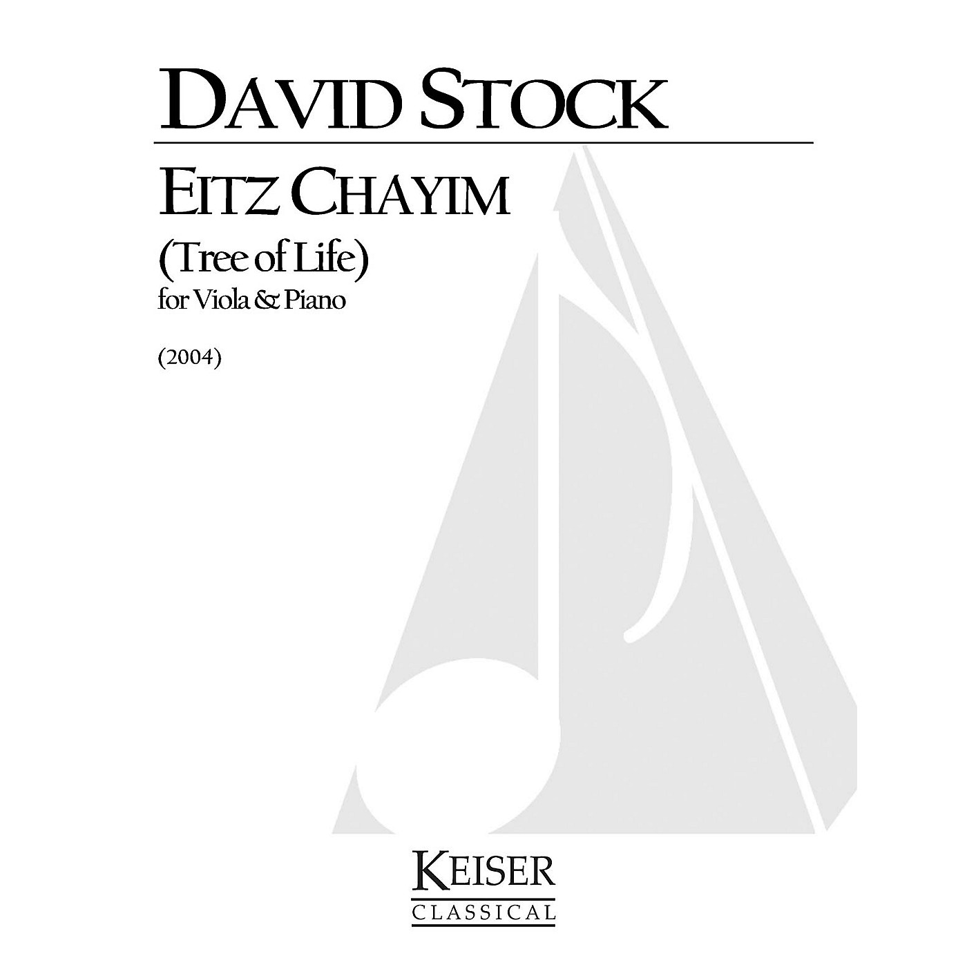 Lauren Keiser Music Publishing Eitz Chayim (Tree of Life) (Viola with piano) LKM Music Series Composed by David Stock thumbnail
