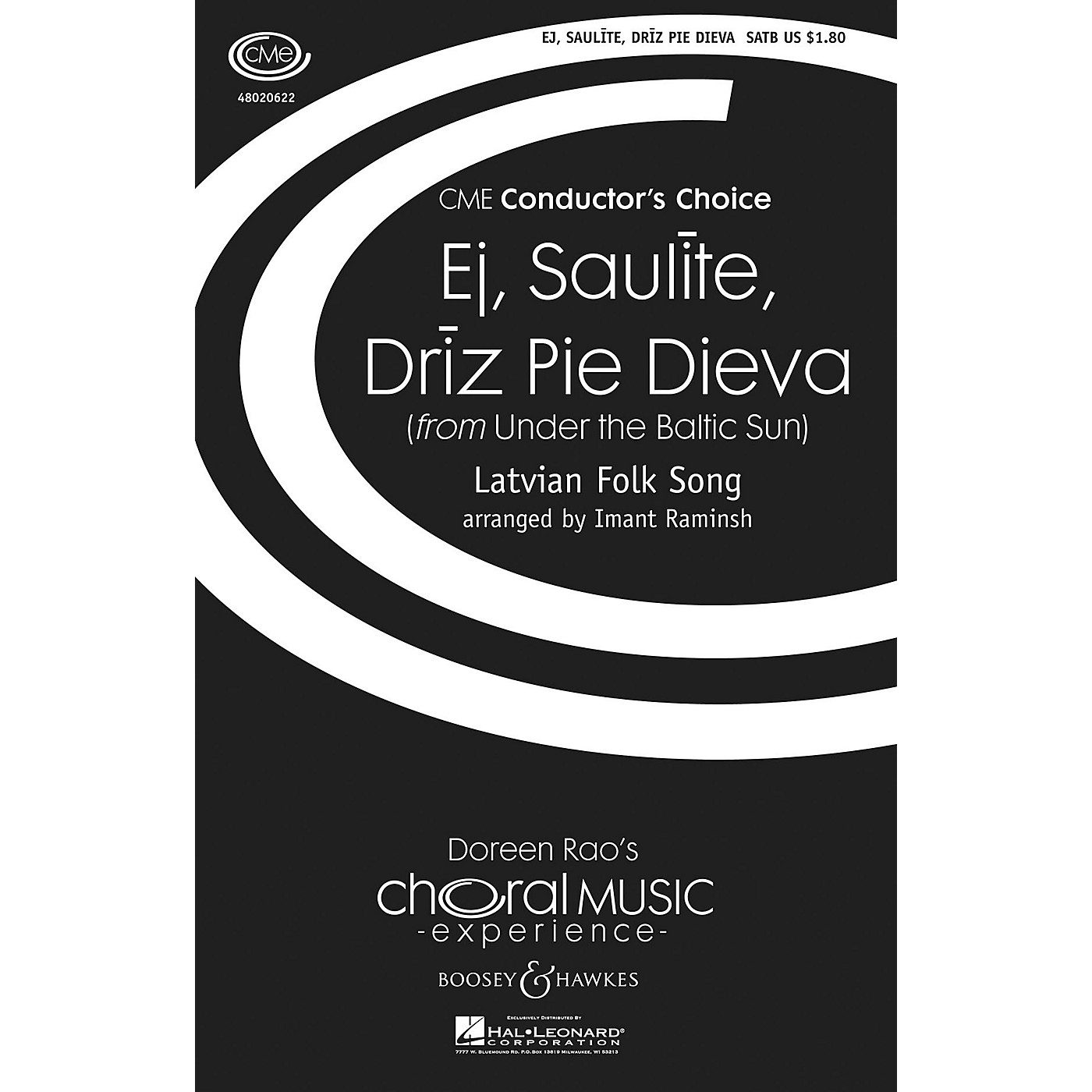 Boosey and Hawkes Ej, Saulite, Driz Pie Dieva (from Under the Baltic Sun) SATB arranged by Imant Raminsh thumbnail