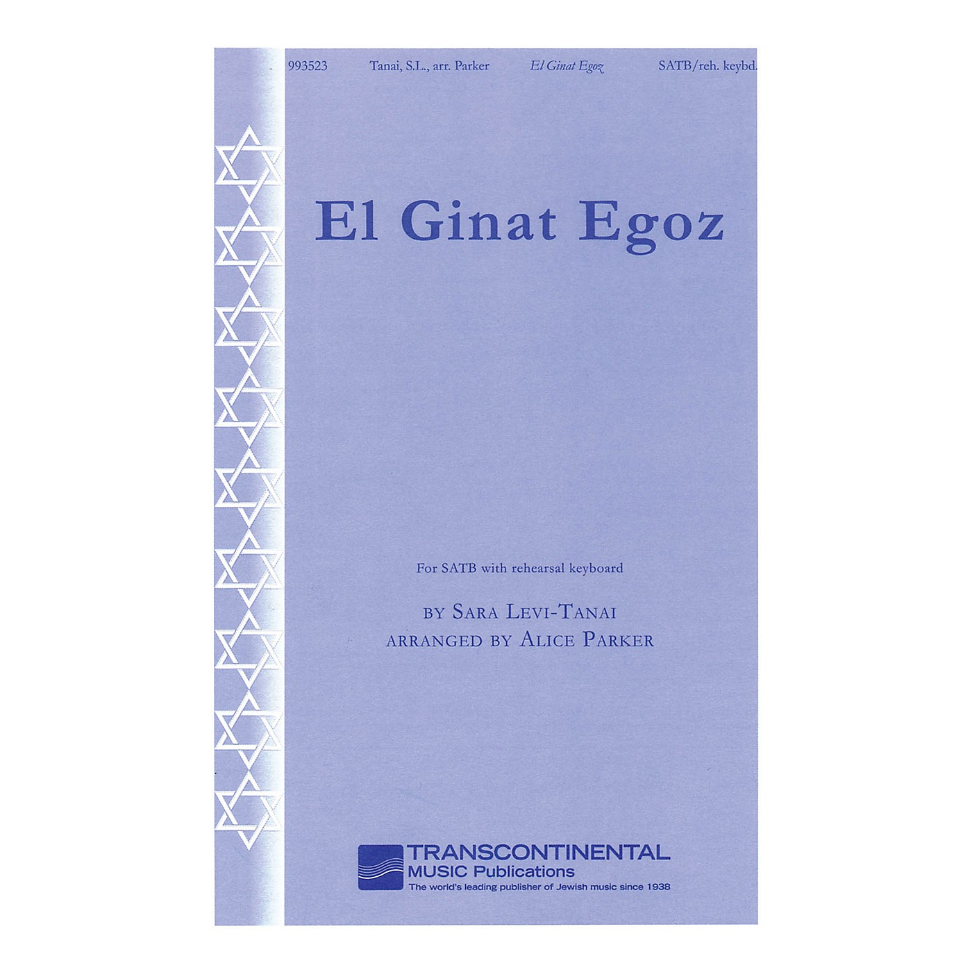 Transcontinental Music El Ginat Egoz (To the Nut Grove) (for SATB with rehearsal keyboard) SATB arranged by Alice Parker thumbnail