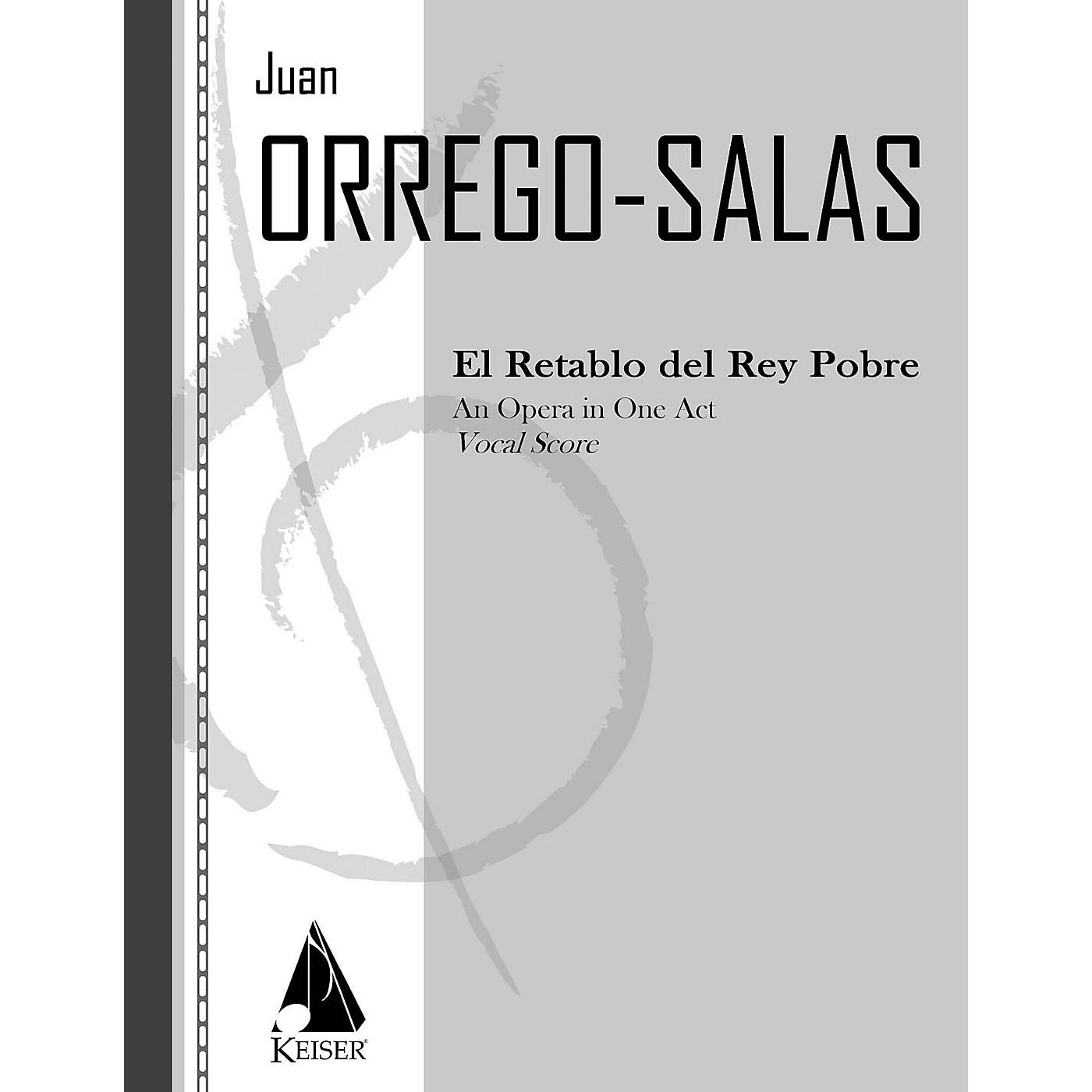 Lauren Keiser Music Publishing El Retablo del Rey Pobre (The Dawn of the Poor King) LKM Music Series  by Juan Orrego-Salas thumbnail