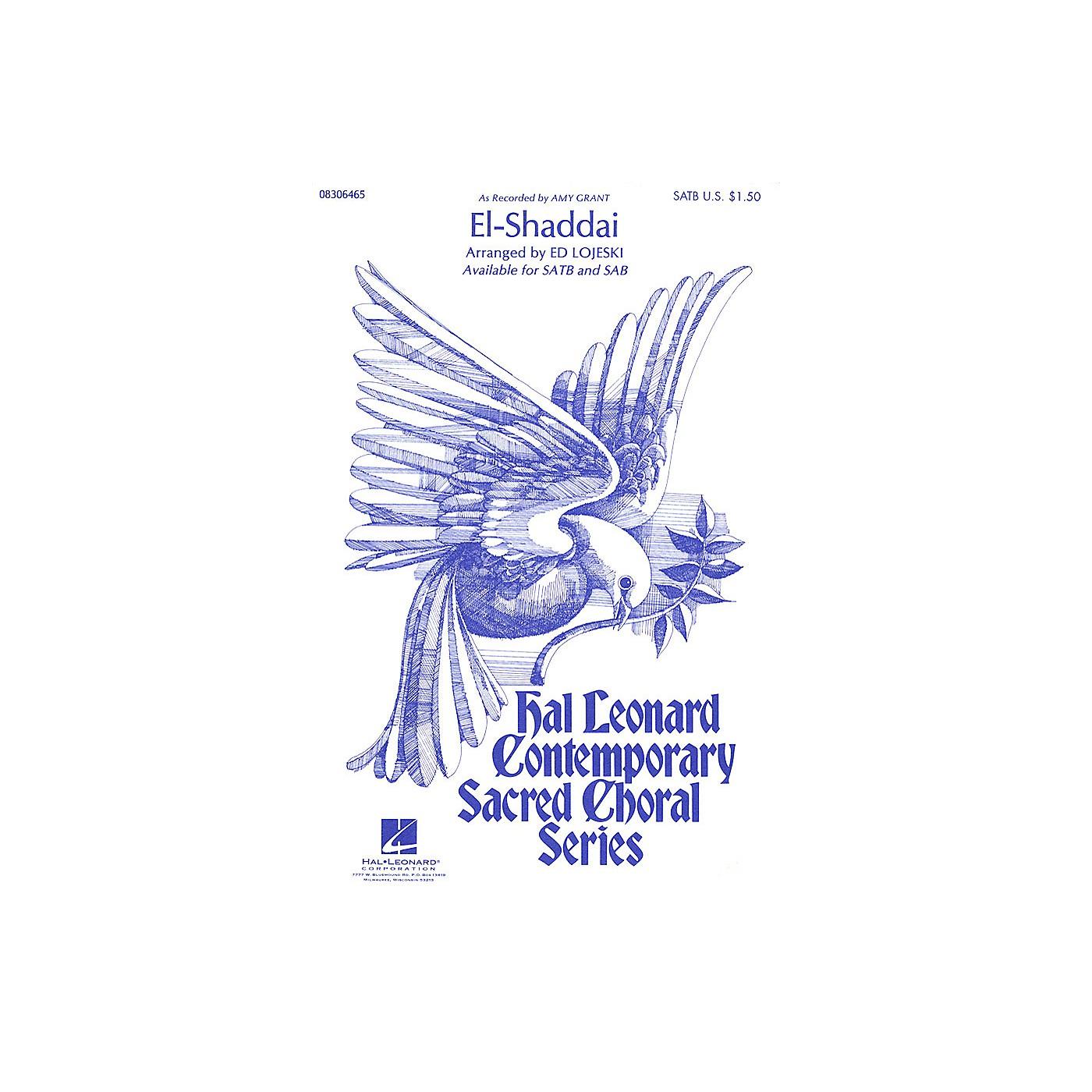 Hal Leonard El-Shaddai SATB by Amy Grant arranged by Ed Lojeski thumbnail
