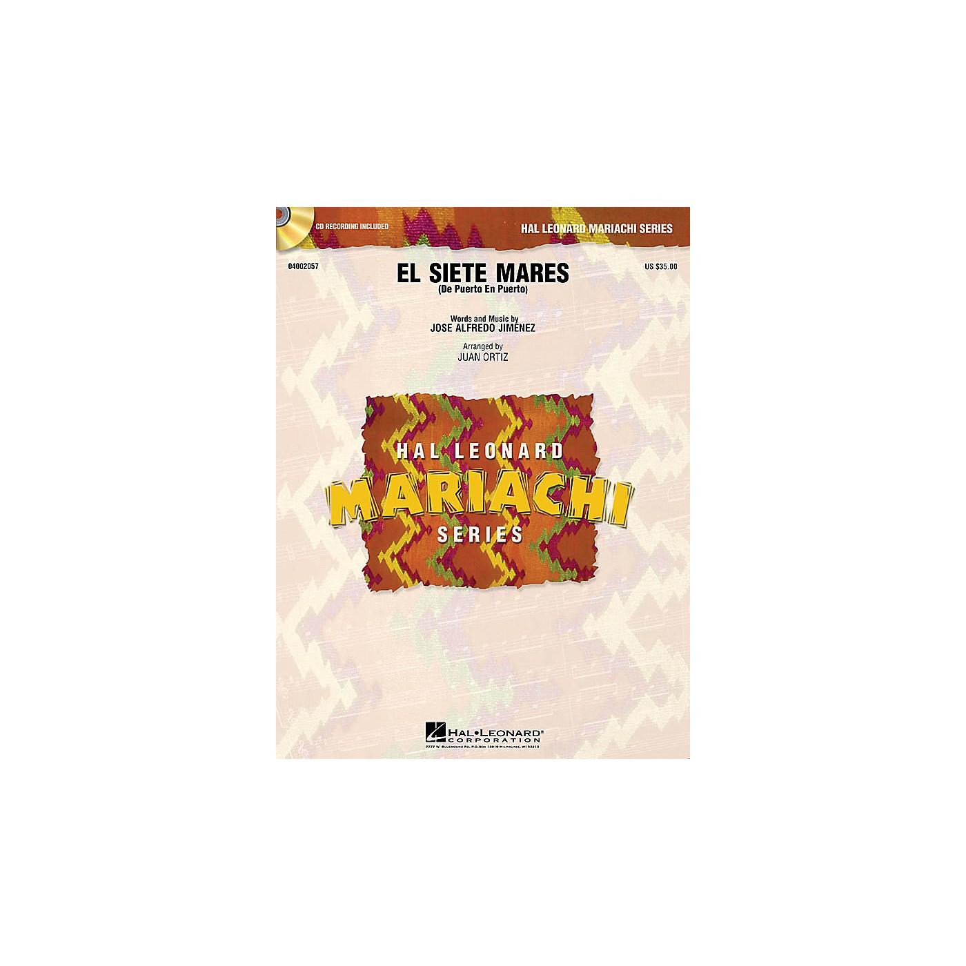 Hal Leonard El Siete Mares (De Puerto en Puerto) Concert Band Level 3 Arranged by Juan Ortiz thumbnail