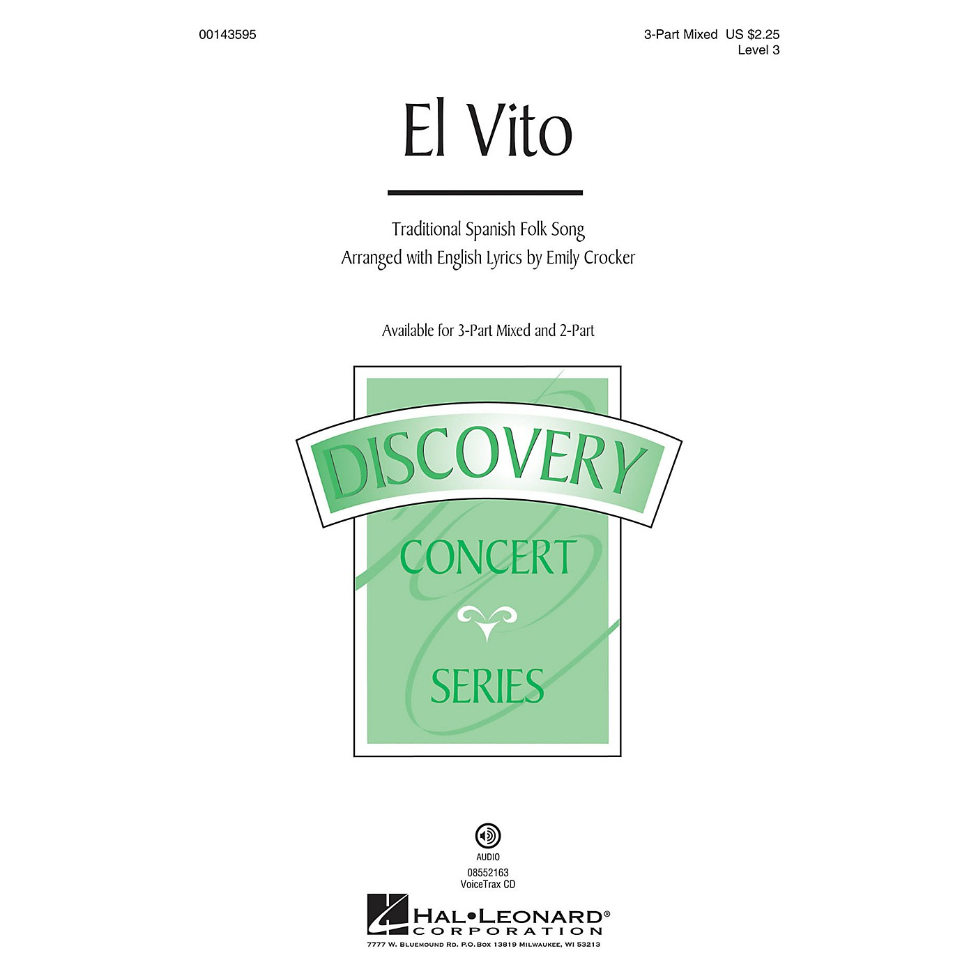 Hal Leonard El Vito (Discovery Level 3) 3-Part Mixed arranged by Emily Crocker thumbnail