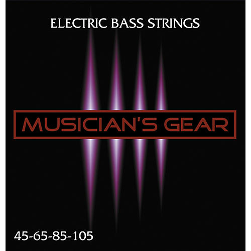 Musician's Gear Electric 4-String Nickel Plated Steel Bass Strings-thumbnail
