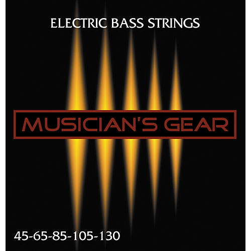 Musician's Gear Electric 5-String Nickel Plated Steel Bass Strings thumbnail